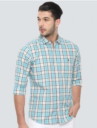 LP white and cream checks shirt