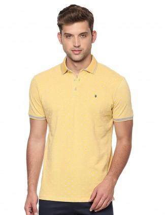 LP yellow cotton printed t-shirt