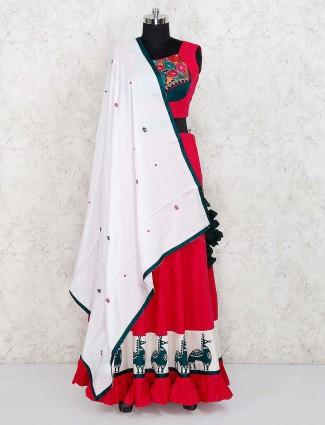 Red color beautiful cotton fabric lehenga choli