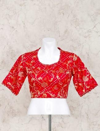 洋红色印花bandhej现成的衬衫