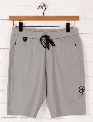 Maml slim fit cotton grey shorts