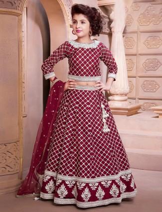 Maroon designer wedding lehenga choli for pretty girls