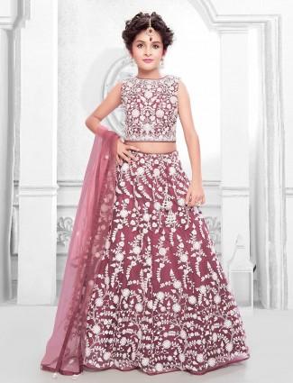 Maroon hue designer lehenga choli for wedding