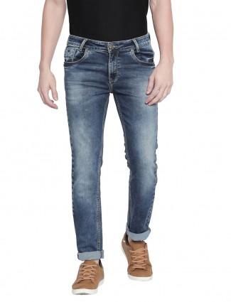 Mufti super slim fit blue jeans