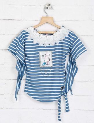 No Doubt blue cotton comfortable top