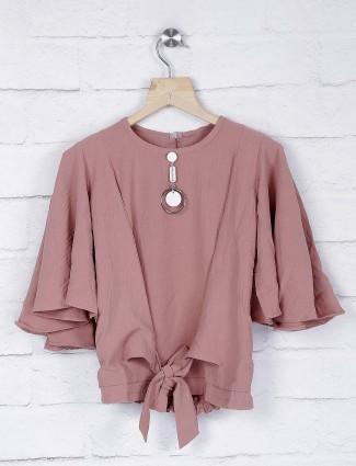 No Doubt peach hue pretty cotton fabric top