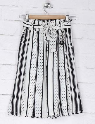 Nofear black and white stripe palazzo