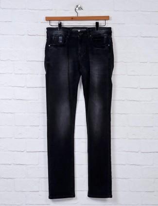 Nostrum black casual wear solid jeans