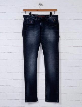 Nostrum dark navy washed mens jeans