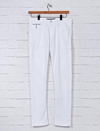 Nostrum denim slim fit white jeans