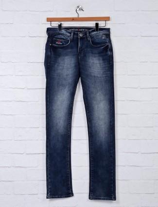 Nostrum fancy washed navy jeans