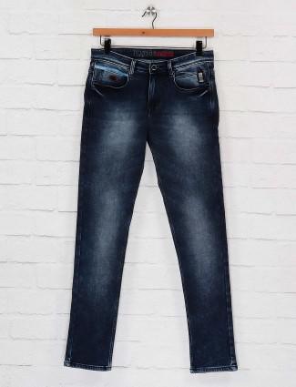 Nostrum navy hue washed slim fit jeans