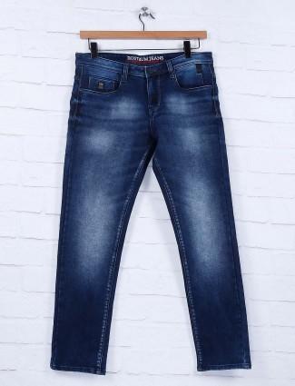 Nostrum simple blue color solid jeans