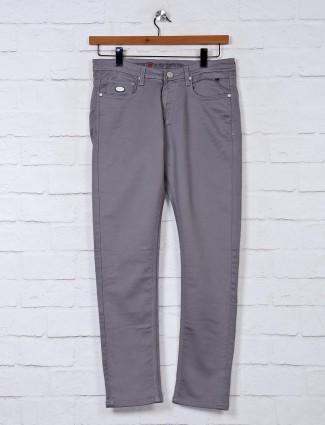 Nostrum slim fit solid grey jeans