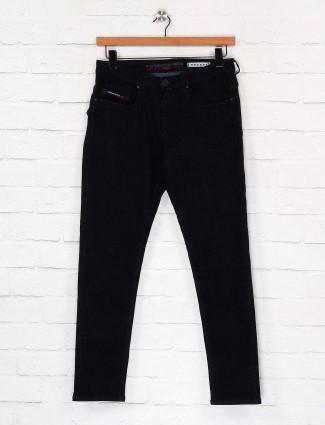 Nostrum solid black slim fit jeans