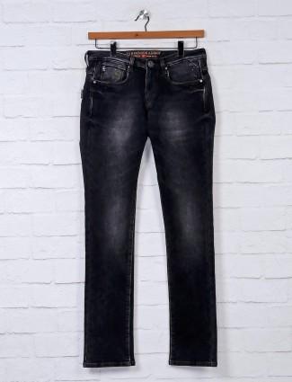Nostrum solid black stunning slim fit jeans