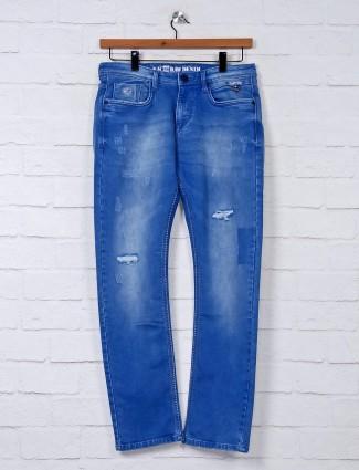 Nostrum washed blue mens jeans