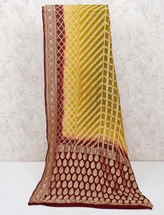 Olive bandhej lovely saree