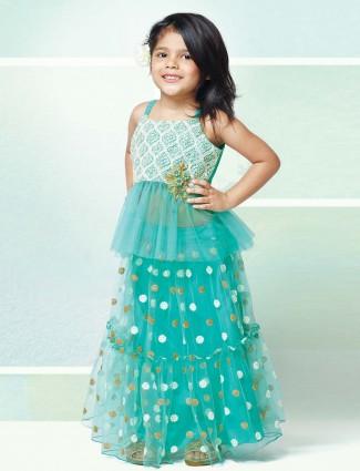 Party wear aqua net designer lehenga choli