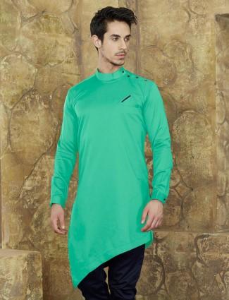 Pastle green cotton fabric short kurta