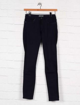 Pepe Jeans navy blue solid casual wear women jeans