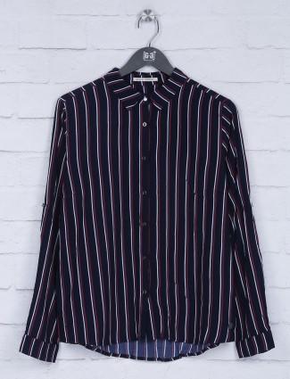 Pepe Jeans navy stripe pattern top
