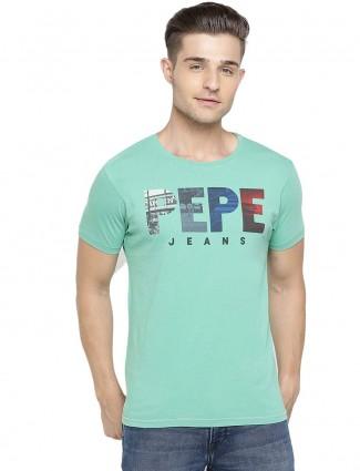 Pepe Jeans sea green printed t-shirt