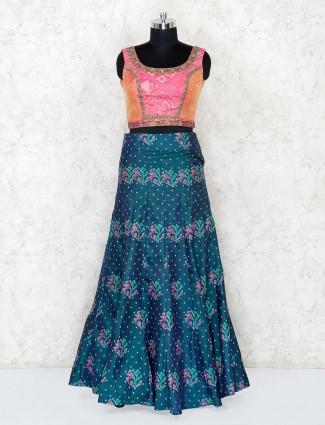Pink and green patola silk wedding lehenga choli