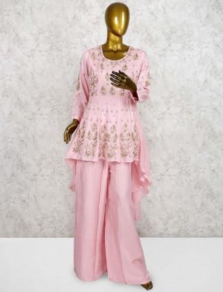 Pink color  pretty punjabi palazzo suit