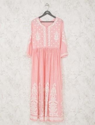 Pink cotton tunic style kurti