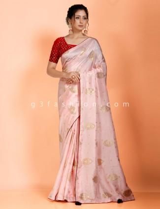 Pink dola silk saree in wedding function