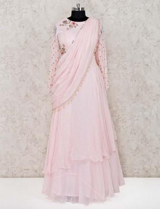 Pink georgette wedding designer anarkali suit