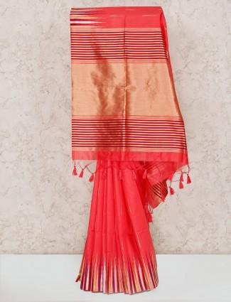 Pink cotton lovely saree