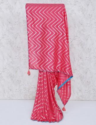 Pink pretty silk saree