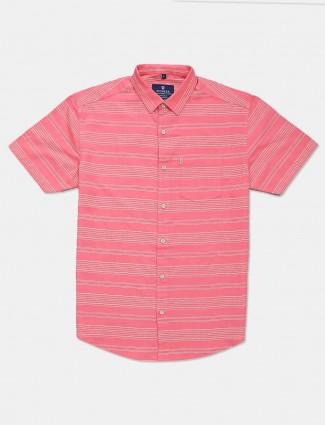 Pioneer stripe pink cotton shirt