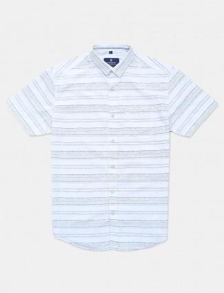 Pioneer white stripe casual shirt