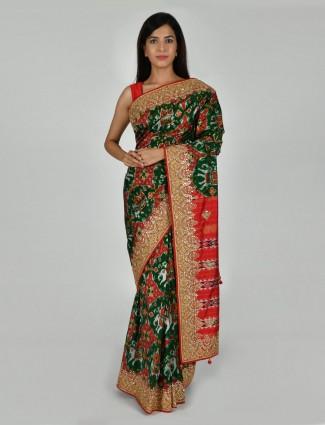 Prettiest green patola silk saree