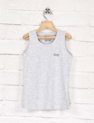 Pro Energy light grey cotton fabric top