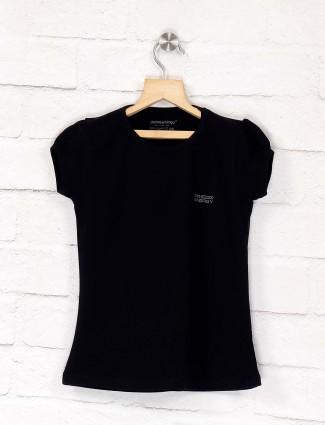 Pro Energy solid black slim fit top