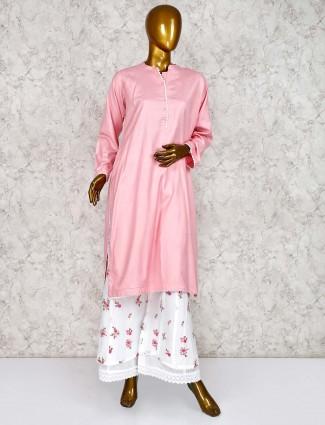 Punjabi palazzo festive wear suit in pink color