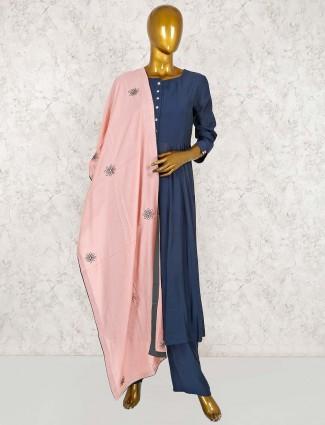 Punjabi salwar suit in blue
