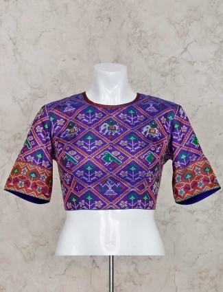 紫色Patola丝绸现成的衬衫