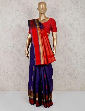 Purple south silk beautiful saree