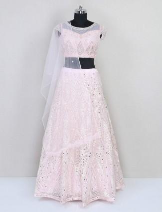Reception wear pink lehenga choli for reception