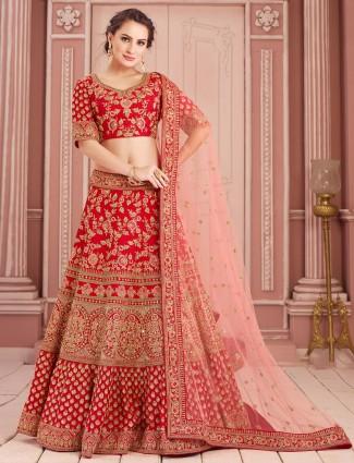 Red lehenga choli for bride