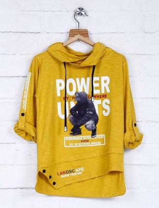 Red Sound mustard yellow printed t-shirt