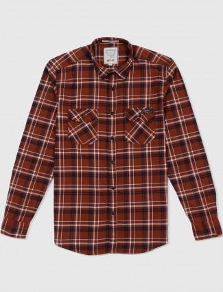 Relay brown colored checks shirt