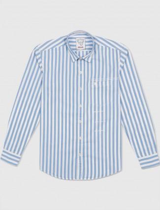 Relay light blue casual stripe shirt