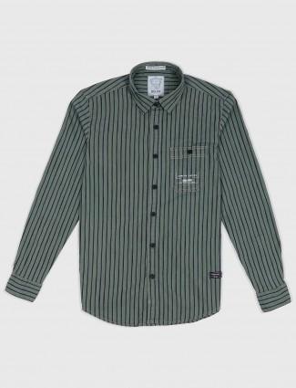Relay mint green stripe shirt