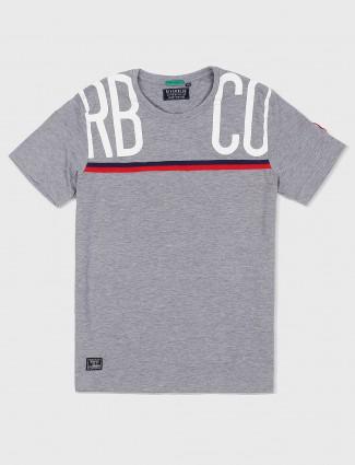 River Blue grey simple mens t-shirt